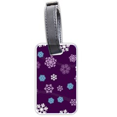 Winter Pattern 10 Luggage Tags (one Side)  by tarastyle