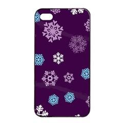Winter Pattern 10 Apple Iphone 4/4s Seamless Case (black) by tarastyle