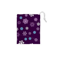 Winter Pattern 10 Drawstring Pouches (xs)  by tarastyle