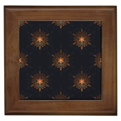 Winter Pattern 11 Framed Tiles by tarastyle