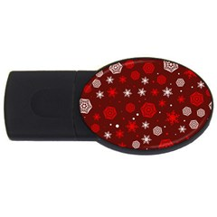 Winter Pattern 14 Usb Flash Drive Oval (4 Gb) by tarastyle