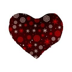 Winter Pattern 14 Standard 16  Premium Heart Shape Cushions by tarastyle