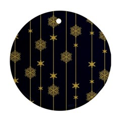 Winter Pattern 15 Round Ornament (two Sides) by tarastyle