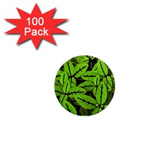 Nature Print Pattern 1  Mini Magnets (100 Pack)  by dflcprints