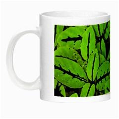 Nature Print Pattern Night Luminous Mugs by dflcprints