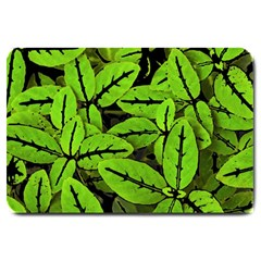 Nature Print Pattern Large Doormat  by dflcprints