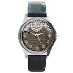 Shabbychicwoodwall Round Metal Watch