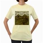 Shabbychicwoodwall Women s Yellow T-Shirt