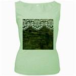 Shabbychicwoodwall Women s Green Tank Top