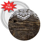 Shabbychicwoodwall 3  Buttons (10 pack)