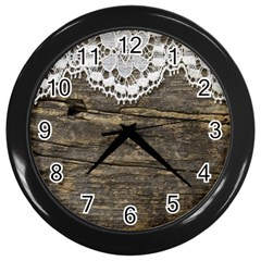 Shabbychicwoodwall Wall Clocks (black) by Love888