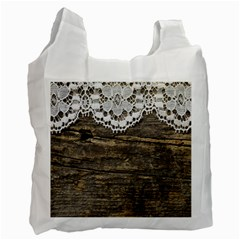 Shabbychicwoodwall Recycle Bag (two Side)  by 8fugoso