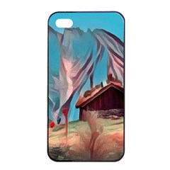 Modern Norway Painting Apple Iphone 4/4s Seamless Case (black) by Love888