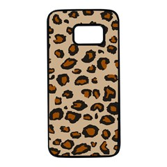 Leopard Print Samsung Galaxy S7 Black Seamless Case by TRENDYcouture