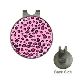 Pink Leopard Hat Clips With Golf Markers by TRENDYcouture