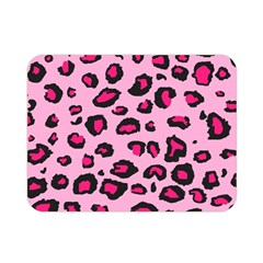 Pink Leopard Double Sided Flano Blanket (mini)  by TRENDYcouture