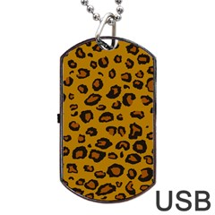 Classic Leopard Dog Tag Usb Flash (one Side) by TRENDYcouture