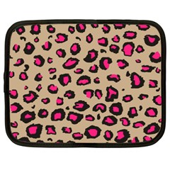 Pink Leopard 2 Netbook Case (xxl)  by TRENDYcouture