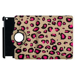 Pink Leopard 2 Apple Ipad 3/4 Flip 360 Case by TRENDYcouture