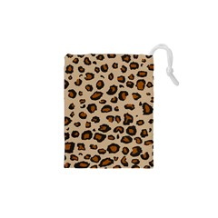 Leopard Print Drawstring Pouches (xs)  by DreamCanvas