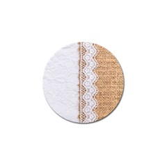 Parchement,lace And Burlap Golf Ball Marker by Love888