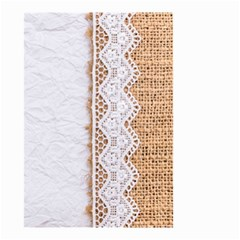 Parchement,lace And Burlap Small Garden Flag (two Sides) by 8fugoso