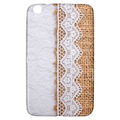 Parchement,lace And Burlap Samsung Galaxy Tab 3 (8 ) T3100 Hardshell Case  by 8fugoso