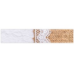 Parchement,lace And Burlap Flano Scarf (large) by Love888