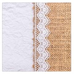 Parchement,lace And Burlap Large Satin Scarf (square) by Love888