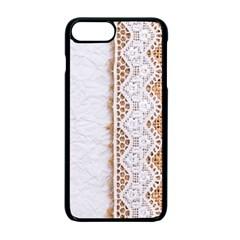 Parchement,lace And Burlap Apple Iphone 7 Plus Seamless Case (black) by 8fugoso