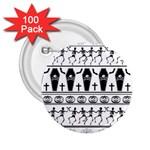 Halloween pattern 2.25  Buttons (100 pack)