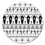 Halloween pattern Magnet 5  (Round)