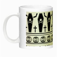 Halloween Pattern Night Luminous Mugs by ValentinaDesign