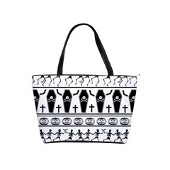 Halloween Pattern Shoulder Handbags by ValentinaDesign