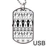 Halloween pattern Dog Tag USB Flash (One Side)