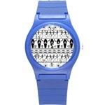 Halloween pattern Round Plastic Sport Watch (S)