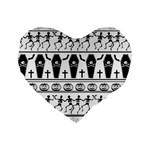 Halloween pattern Standard 16  Premium Heart Shape Cushions
