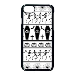 Halloween Pattern Apple Iphone 7 Seamless Case (black) by ValentinaDesign