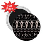 Halloween pattern 2.25  Magnets (100 pack)