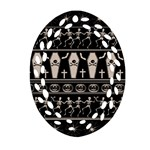 Halloween pattern Ornament (Oval Filigree)
