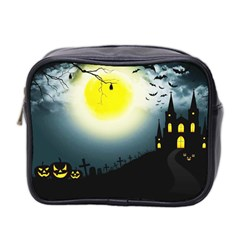 Halloween Landscape Mini Toiletries Bag 2 Side by ValentinaDesign