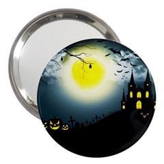 Halloween Landscape 3  Handbag Mirrors by ValentinaDesign