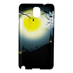 Halloween Landscape Samsung Galaxy Note 3 N9005 Hardshell Case by ValentinaDesign