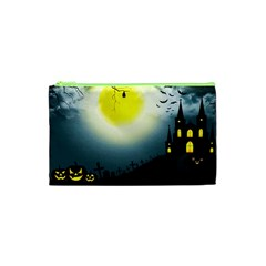 Halloween Landscape Cosmetic Bag (xs) by ValentinaDesign
