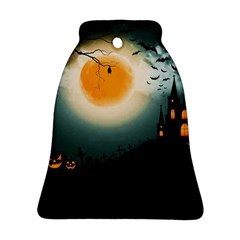Halloween Landscape Ornament (bell) by ValentinaDesign