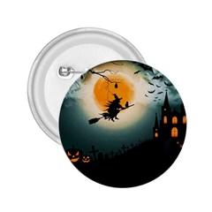 Halloween Landscape 2 25  Buttons by ValentinaDesign