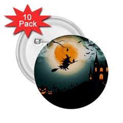 Halloween Landscape 2 25  Buttons (10 Pack)  by ValentinaDesign