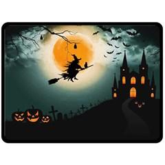 Halloween Landscape Fleece Blanket (large)  by ValentinaDesign