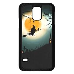 Halloween Landscape Samsung Galaxy S5 Case (black) by ValentinaDesign