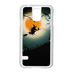 Halloween Landscape Samsung Galaxy S5 Case (white) by ValentinaDesign